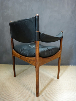 additional images for Kristian Vedel Rosewood and Leather Chair for Sorren Willadsen