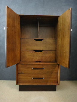 additional images for  Lane Rosewood and Walnut Wardrobe/Bureau