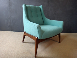 additional images for Mid Century Reupholstered Lounge Chair