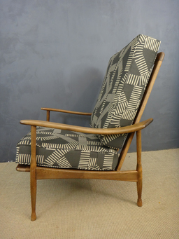 additional images for SALE -  Re-Upholstered Mid Century Lounge Chair
