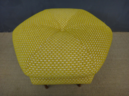 additional images for Reupholstered Hexagonal Ottoman
