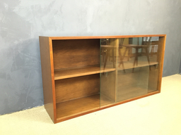 additional images for Milo Baughman Glass Sliding Door Hutch