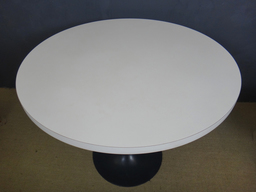 additional images for  White Laminate Round Burke Table