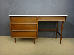 additional images for Mid Century Desk with White Painted Top