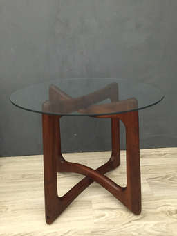 additional images for  Adrian Pearsall Walnut and Glass End Tables