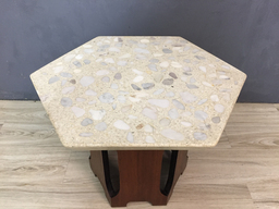 additional images for Harvey Probber Terrazzo and Walnut Side Table