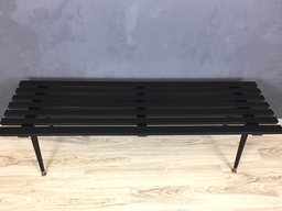 additional images for Black Slatted Bench