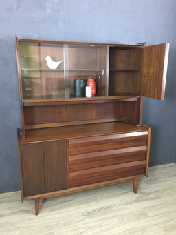 additional images for Lane Walnut Credenza/China Cabinet
