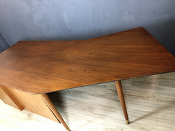 additional images for Mid Century Modern Walnut Boomerang Desk