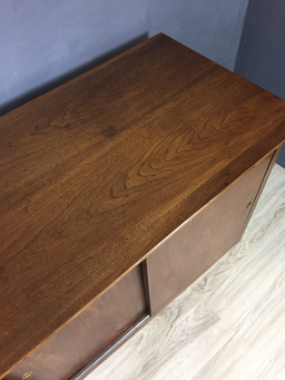 additional images for Mid Century Modern Walnut Office Console