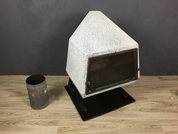 additional images for Mid Century Enamel Wood Stove