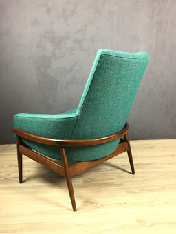 additional images for Milo Baughman Barrel Back Upholstered Lounge Chair