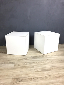 additional images for Modernist White Cube Side Tables