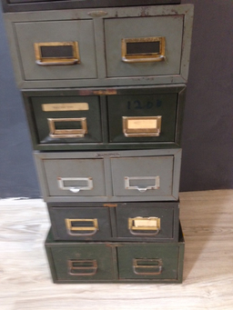 additional images for Vintage  Metal File Boxes