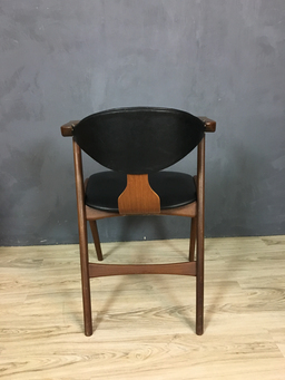additional images for Mid Century Dutch AWA Cowhorn Armchair