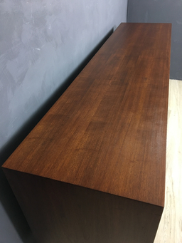 additional images for Rare Walnut Vertical Tambour Door Credenza