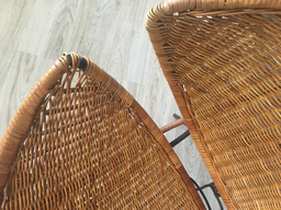 additional images for Clam Shell Wicker and Rattan Chair
