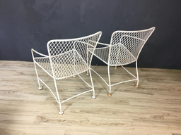 additional images for SALE - Iron Modernist Armchairs in Style of Van Keppel Green