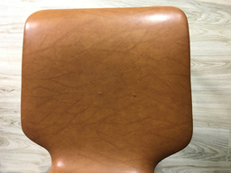 additional images for Dutch Mid Century Teak and Vinyl Dining Chairs