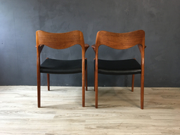 additional images for Pair of Danish Modern Niels Moller #55 Teak Armchairs