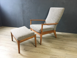 additional images for Parker Knoll British Upholstered Lounge Chair with Ottoman
