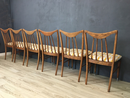 additional images for 1950s Keller Re-upholstered Hickory Dining Chairs