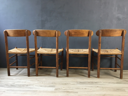 additional images for Four Danish Cord Dining Chairs in Style of Borge Mogensen