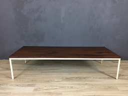 additional images for Mid Century Walnut Coffee Table with Metal Frame