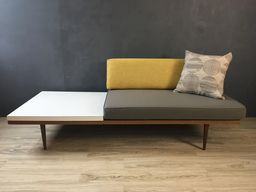 additional images for Upholstered Loveseat with Laminate Side Table
