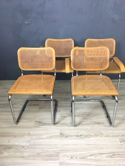 additional images for Set of Four Marcel Breuer Style Chairs