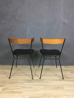 additional images for Pair of Iron and Wood Chairs by Clifford Pascoe