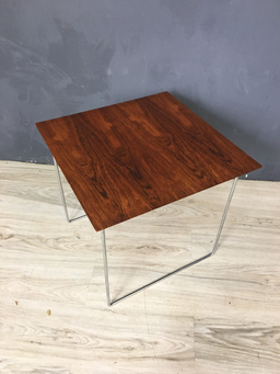additional images for Rosewood and Chrome Side Table