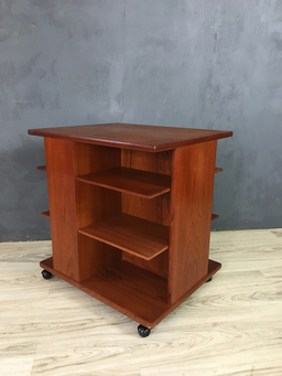 additional images for Danish Modern Teak Magazine Stand/Side Table by Jensen Odense