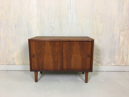 additional images for Petit Danish Modern Teak Sliding Door Cabinet