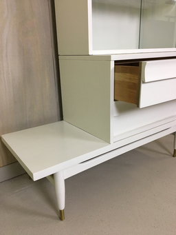 additional images for Painted Three-Piece Display Cabinet with Drawers
