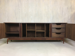 additional images for Mid Century Furnette Credenza with Tambour Doors