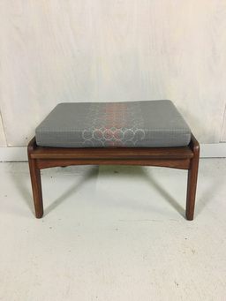 additional images for Mid Century Walnut Ottoman