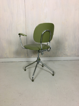 additional images for Chrome and Vinyl Office Chair