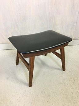additional images for Teak and Vinyl Ottoman