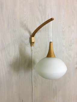 additional images for Mid Century Wood and Glass Wall Lights