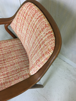 additional images for Mid Century Upholstered Knoll Accent Chair