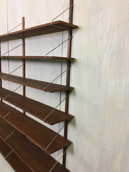 additional images for Wall Mounted Walnut Shelving Unit in Style of Poul Cadovius