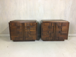 additional images for Brutalist Walnut Bedside Tables for Lane