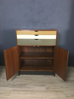 additional images for  Custom Walnut Wall Unit with Painted Drawers