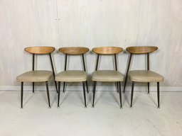 additional images for Set of Four Metal and Bentwood Dining Chairs by Viko Baumritter