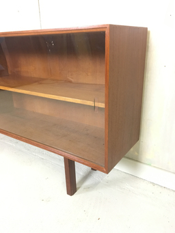 additional images for Danish Modern Teak Shelving with Sliding Glass Doors