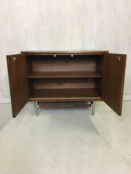 additional images for Kroehler Walnut Cabinet with Rosewood Inlay