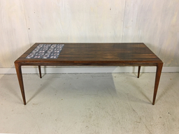 additional images for Johannes Andersen Rosewood Coffee Table with Tile Inset