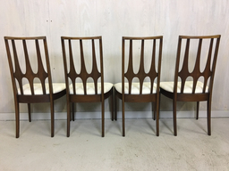 additional images for Set of Four Brasilia Walnut Dining Chairs