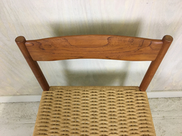 additional images for Set of 4 Teak Danish Cord Dining Chairs